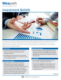 Investment Beliefs document cover image
