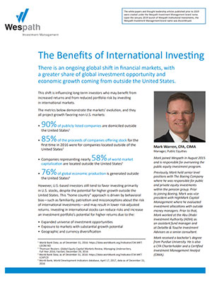 Benefits of International Investing cover image