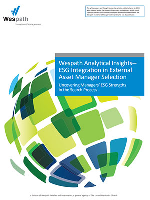 ESG Integration in External Asset Manager Selection cover image
